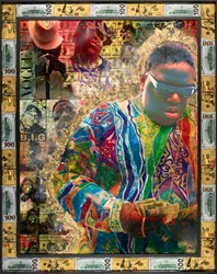 Biggie Smalls II by Dan Pearce - Original Glazed Mixed Media on Board sized 36x45 inches. Available from Whitewall Galleries